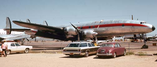 L-1049H, N6937C at Falcon Field, Mesa, Arizona on May 4, 1974