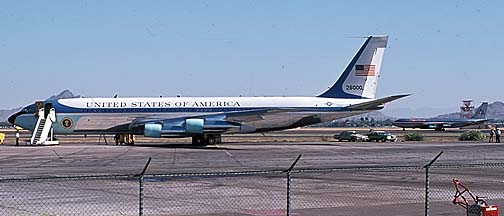 Boeing VC-137C Stratoliner 62-6000, Phoenix Sky Harbor Airport, May 11, 1974