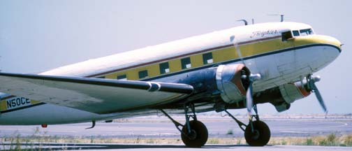 PCA DC-3, N50CE, San Francisco International Airport, August 6, 1974