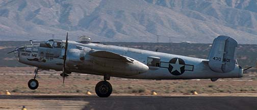 North American B-25J Mitchell, N3699G Executive Sweet at the Mojave Air Races on June 21, 1975