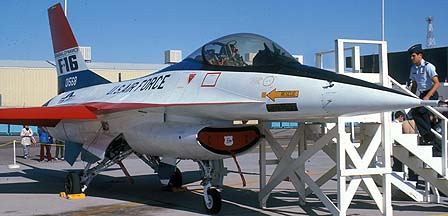 General Dynamics YF-16 Fighting Falcon 72-1568 at Edwards Air Force Base on November 16, 1975