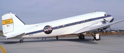 NASA C-47H, N817NA, Edwards Air Force Base, November 13, 1977