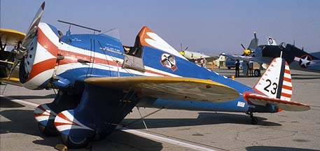Boeing P-26 Peashooter N3378G, Chino, September 3, 1978
