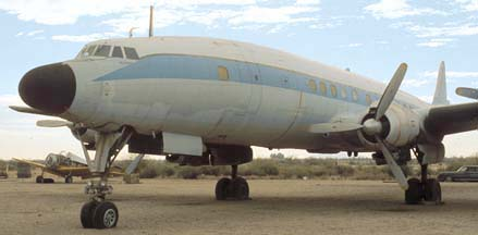 C-121C, N73544 at Gila Bend Indian Reservation Memorial Airport on December 30, 1981