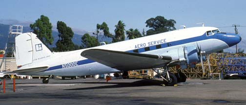 Aero Service DC-3, N5000E, Santa Barbara Airport, October 9, 1982