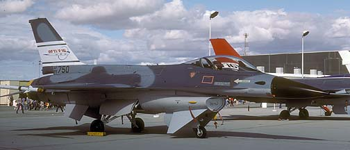 General Dynamics AFTI F-16 Fighting Falcon 75-0750 at Edwards Air Force Base on October 23, 1982