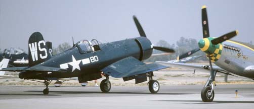 Vought F4U-1 Corsair NX83782, Chino, May 20, 1984