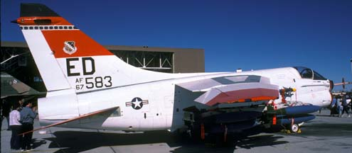 Vought YA-7D-1 Corsair, 67-14583 of the 412th Test Wing at Edwards Air Force Base on November 9, 1986