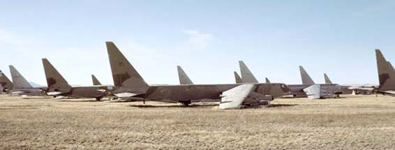 Boeing B-52 Stratofortresses in the Boneyard