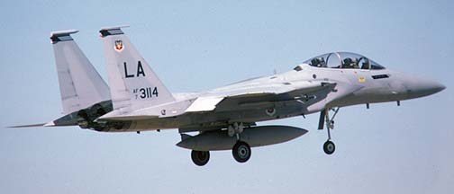 McDonnell-Douglas F-15B-9 Eagle, 73-0114 at Luke Air Force Base, Arizona, November 25, 1986