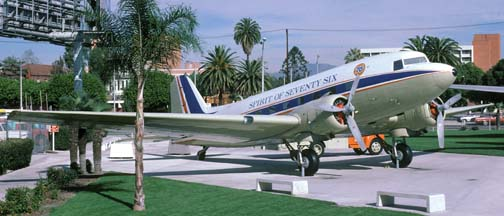 DC-3, N760 Spirit of Seventy Six, Los Angeles Exposition Park, November 28, 1986