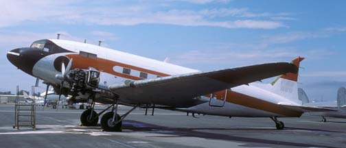 Former FAA DC-3 N58, Chino Airport, October 18, 1987