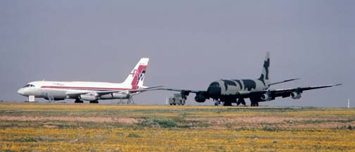Convair 880, N375 at Mojave, California on March 4, 1988