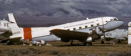 Naval Arctic Research Laboratory R4D-8L, N31310, Naval Air Weapons Station China Lake, April 16, 1988