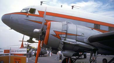 FAA DC-3C, N34, Brown Field, May 22, 1988