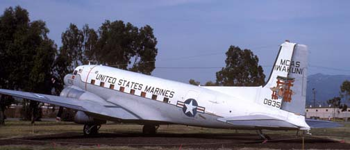 Marine Corps C-117D, BuNo 50835, Marine Corps Air Station el Toro, April 29, 1989