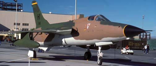 Republic F-105D-20 Thunderchief, 61-0146 at Edwards Air Force Base, October 29, 1989