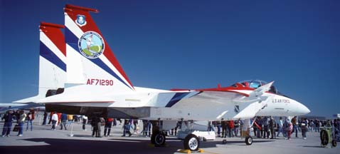 McDonnell-Douglas NF-15B (STOL/MTD) Eagle, 71-0290 at Edwards Air Force Base Open House, October 29, 1989