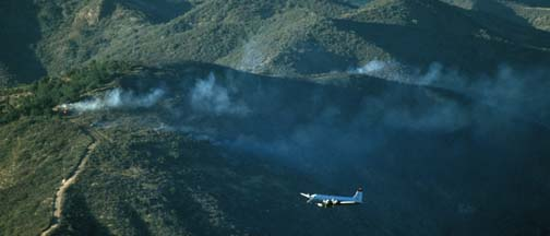 Air Tankers over Santa Barbara County, July 30, 1990