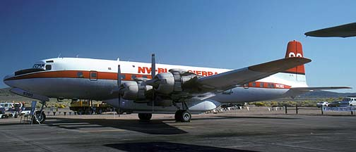 Douglas DC-7B, N838D Tanker e60 at the Reno Air Races on September 15, 1991