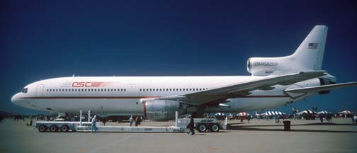 Orbital Sciences' L-1011, Stargazer at the Vandenberg AFB Open House, April 9, 1995
