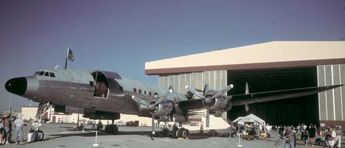 C-121C, N73544 at Edwards AFB on Ocober 21, 1995