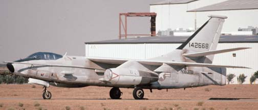 Douglas ERA-3B Skywarrior, N163TB stored at Mojave on July 27, 1997