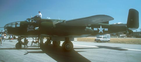 North American B-25J N3675G Betty Grable, El Toro Marine Corps Air Station, April 28, 1990