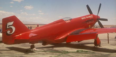 Red Baron RB-51 Griffon powered Mustang, Mojave Air Races, June 1975