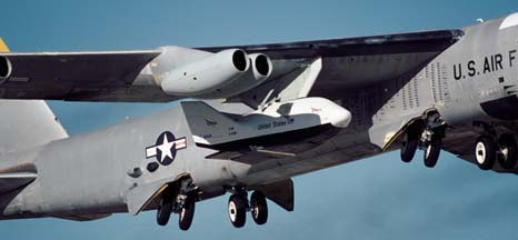 Boeing NB-52B Stratofortress mothership with X-38 Space Station Lifeboat, November 2, 2000