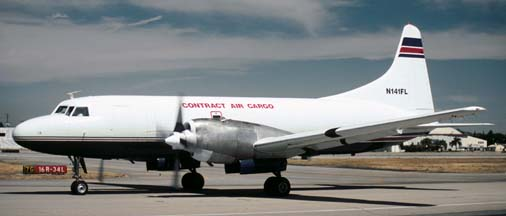 Convair 580, N141FL of Contract Air Cargo