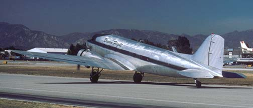 Dream Flight's DC-3, N101KC Rose at Van Nuys, June 22, 2001