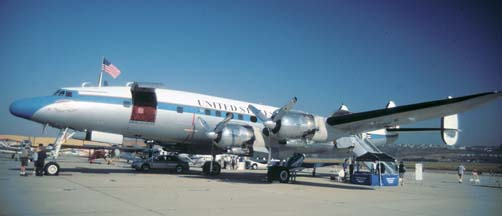 Lockheed C-121C Constellation, N73544