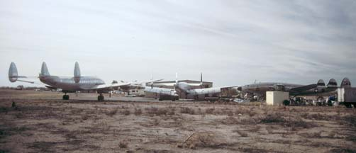 VC-121A, N749VR, C-121G, N105CF, and C-121A, N494TW at Avra Valley, Arizona on November 23, 2001