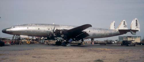 C-121G N105CF at Avra Valley, Arizona on November 23, 2001