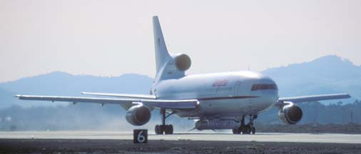 Orbital Sciences Corp. L-1011, Stargazer takes off with the HESSI spacecraft, February 1, 2002