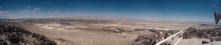 Panoramic view of China Lake NAWS from B Mountain