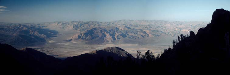 View of Saline Valley Hot Springs from the base of New York Butte in the Inyo Mountains