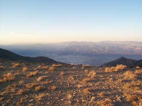 Saline Valley at Sunset from the Inyo Mountains