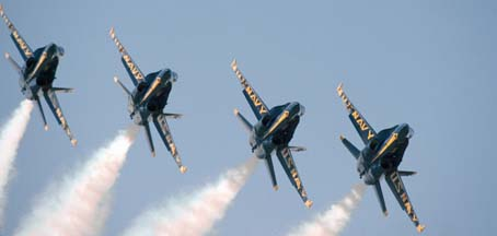 McDonnell-Douglas F/A-18s of the Blue Angels