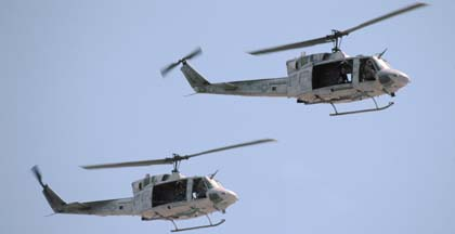 Bell UH-1N Hueys #06 and #09