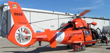 USCG HH-65A Dolphin, 6586 from Los Angeles