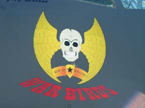 Nose art on Boeing B-52H Stratofortress, 60-0005 of the 5th Bomb Wing