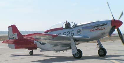 North American P-51D Mustang, N151AF Val Halla is piloted by Bill Anders