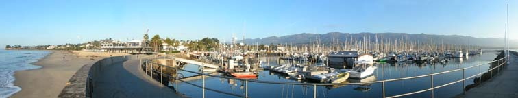 Santa Barbara Harbor panorama