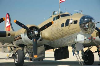 Collings Foundation B-17 Flying Fortress and B-24 Liberator at the Camarillo Airport