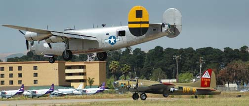 Collings Foundation B-17 Flying Fortress and B-24 Liberator at the Santa Maria Airport