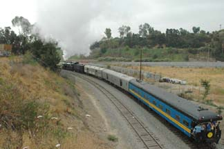Santa Fe 3751 at Mission Road