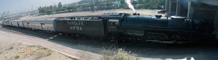 Santa Fe 3751 at Rialto Avenue