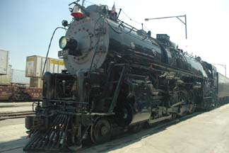 Santa Fe 3751 at the San Bernardino depot